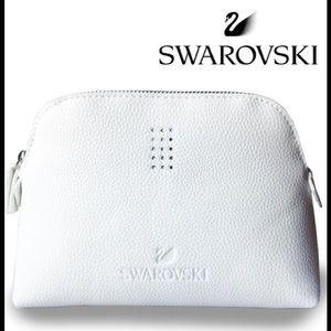 Swarovski Crystal White Cosmetic Makeup Bag